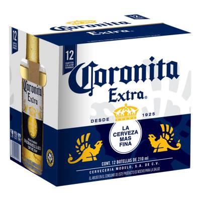 Superama: Cerveza clara Coronita Extra 12 botellas  de 210 ml c/u Compra 2X$115