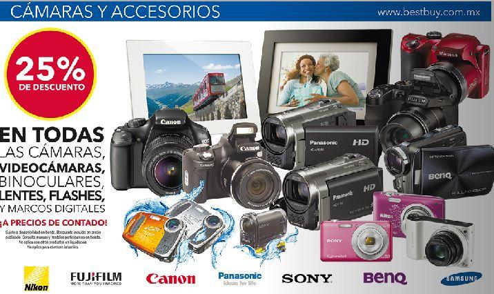 Best Buy: 25% de descuento en todas las cámaras, hasta 20% en TVs LG y más