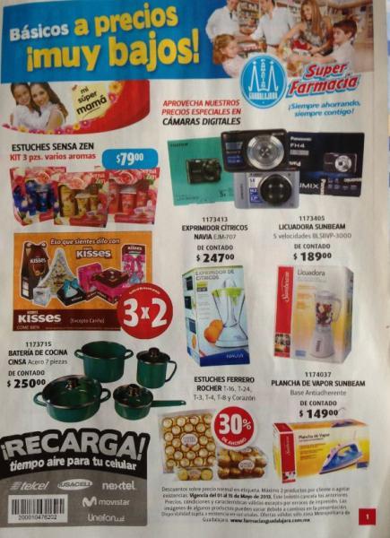 Folleto Farmacias Guadalajara del 1 al 15 de mayo de 2013