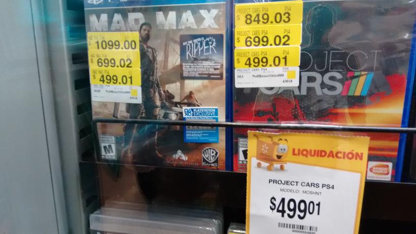 Walmart La Huerta: Mad Max para PS4 a $499.01