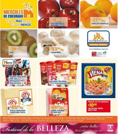 Miércoles de Chedraui mayo 1: melón $5.90, 3x2 en helado Holanda y más