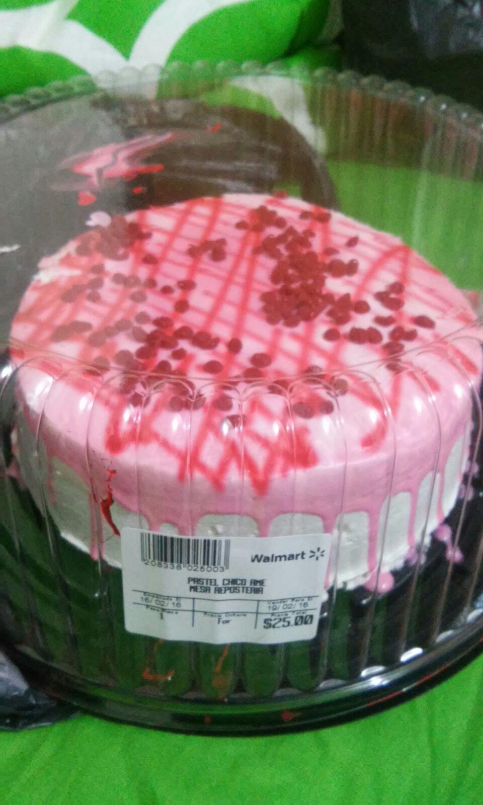 Walmart: Pastel de chocolate Dia del amor $25 / 100 Notas Adheribles $9.02