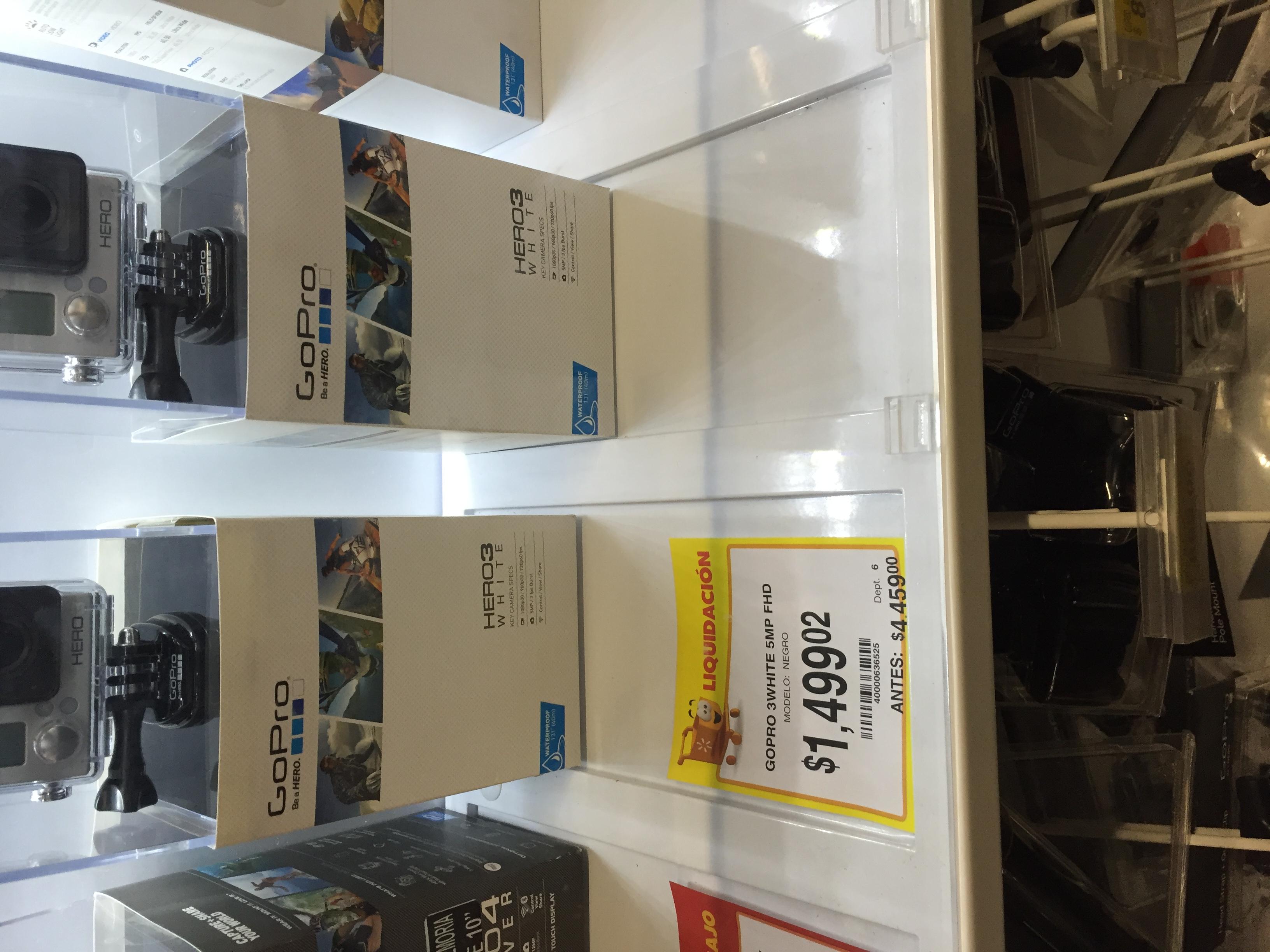 Walmart Horizonte: Cámara GoPro 3White en $1,499.02