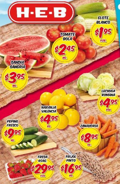 Frutas y verduras HEB: tomate bola $2.45 y más