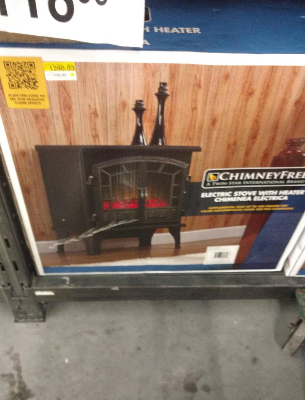 Bodega Aurrerá: chimenea eléctrica a $1,290.03