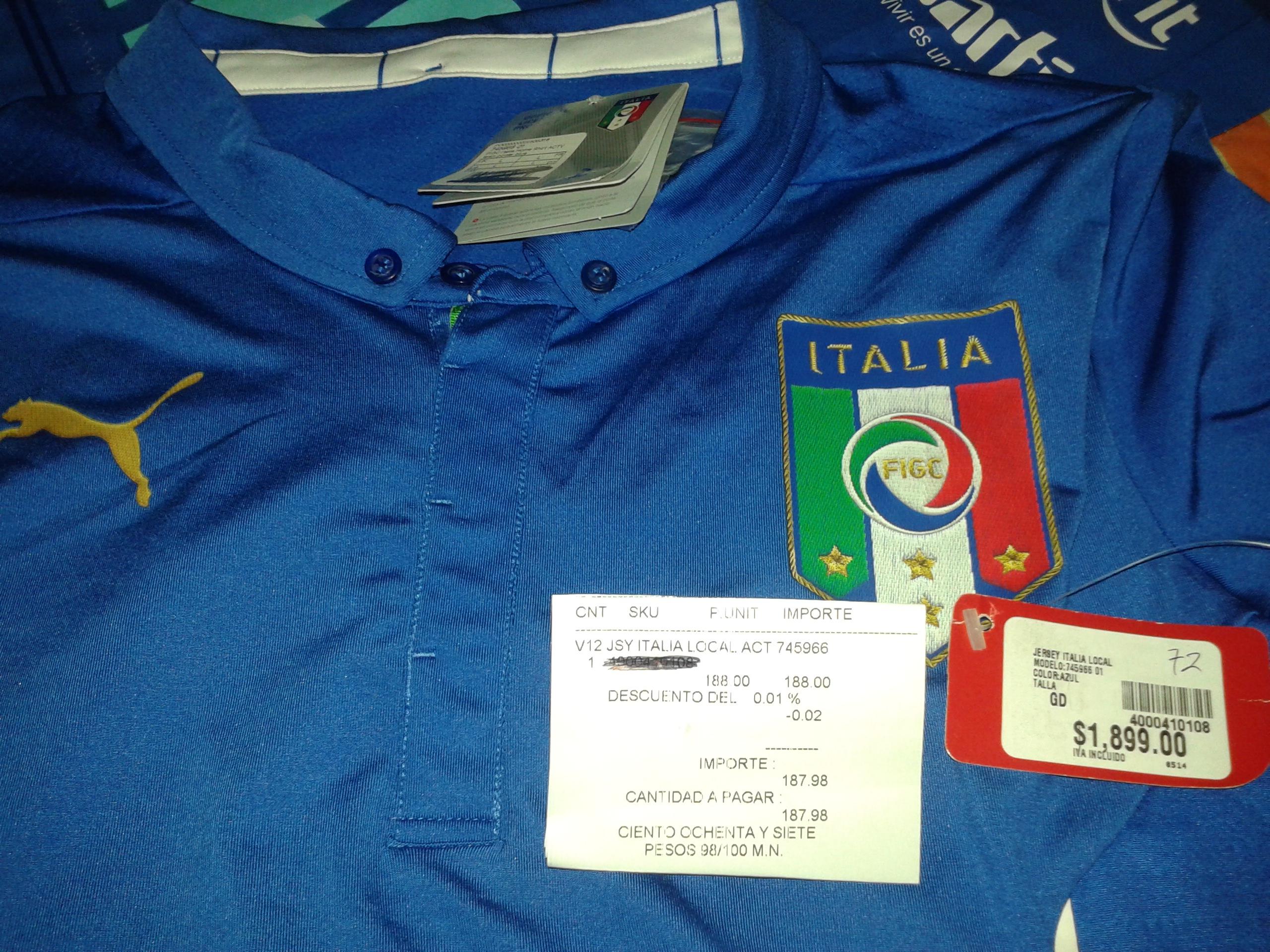 Martí Patio Texcoco: jersey italia de $1,899 a $187