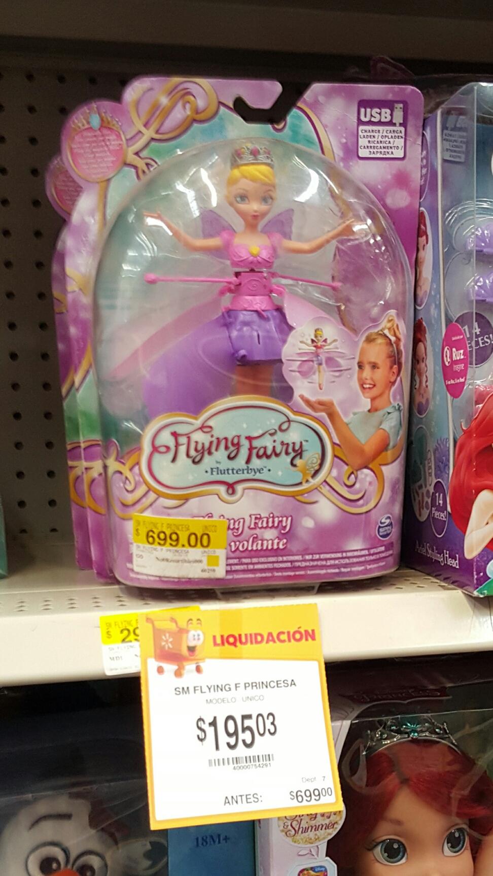 Walmart: Liquidación de juguetes Hada voladora de $699 a $195.03 y otros.