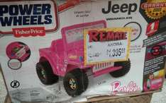 Bodega Aurrerá: Jeep Barbie Power Wheels a $1,395.03