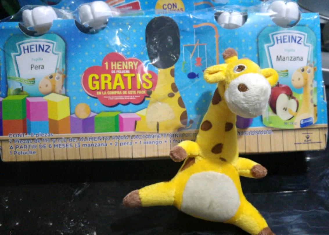 Walmart Irapuato: Pack de 7 papillas heinz + jirafa peluche a $59