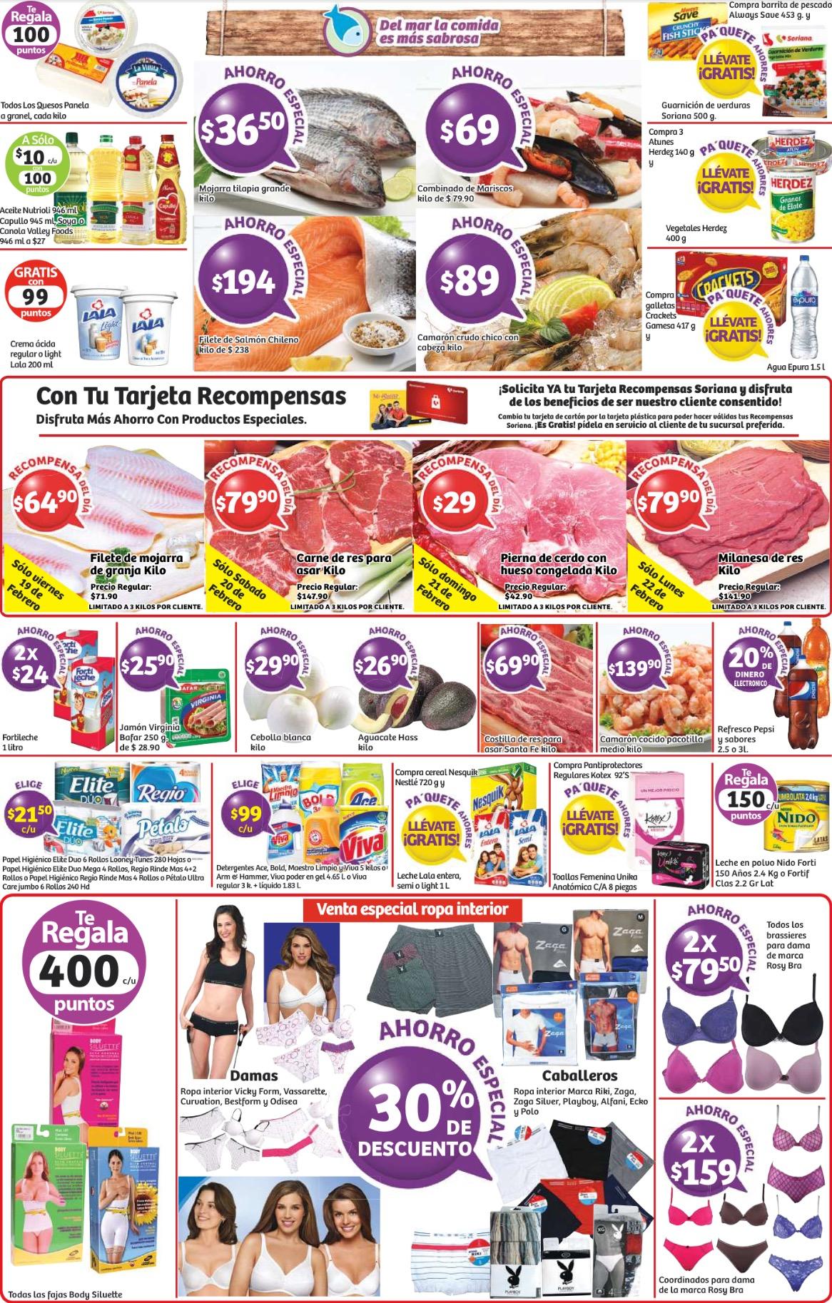 Soriana: venta especial de ropa interior y promociones de fin de semana
