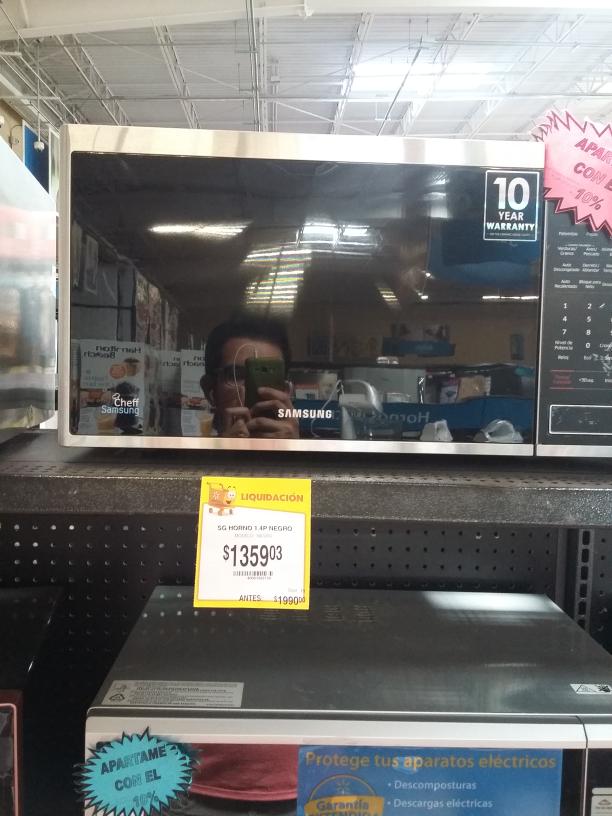 Walmart: Microondas Samsung a $1,359.03 y más
