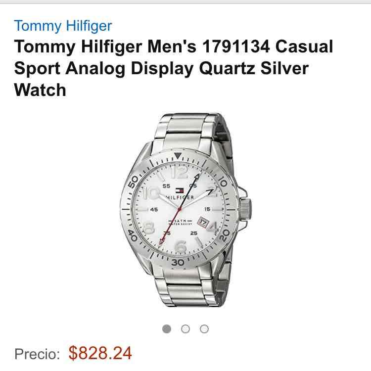 Amazon USA: reloj Tommy Hilfiger para hombre modelos 1791134 a $828.24