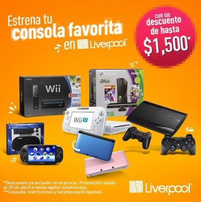 Liverpool: hasta $1,500 de descuento en consolas de videojuegos