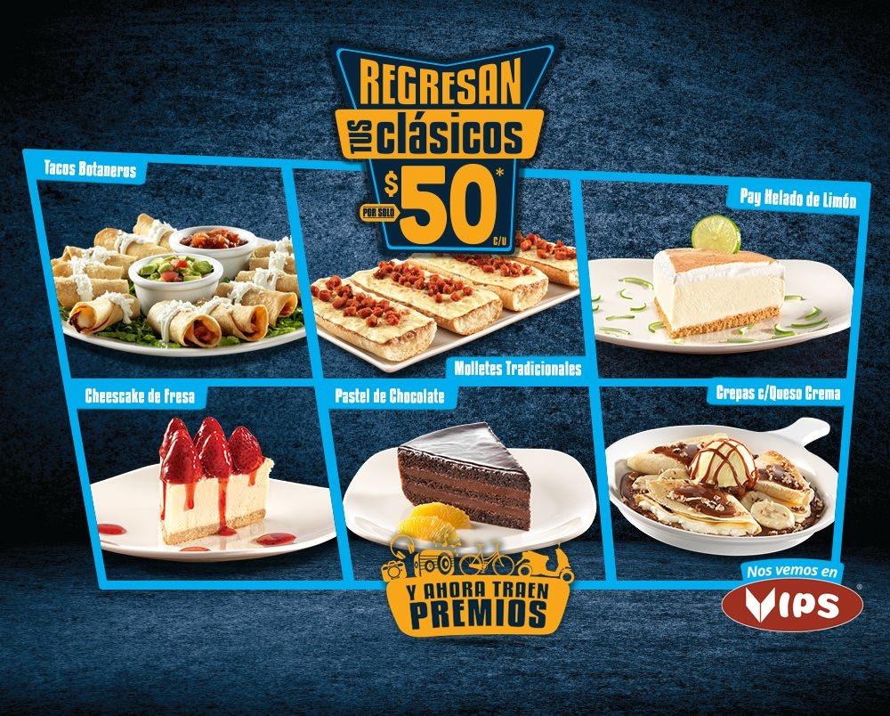 Regresan tus clásicos en Vips: Tacos Botaneros, Molletes y más a $50