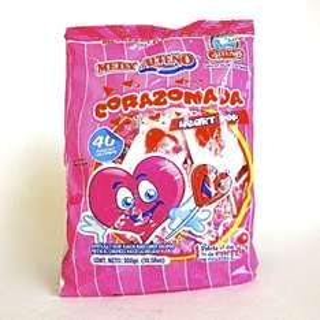 Chedraui Tecamac 2: Bolsa de 40 Paletas Corazonadas Alteño a $3.45