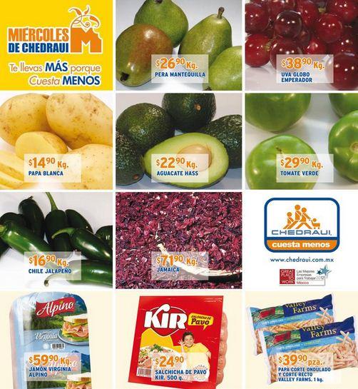 Miércoles de frutas y verduras Chedraui abril 24: toronja $2.70 y más