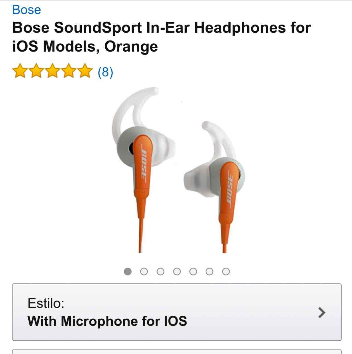 Amazon MX: Audífonos Bose para corredores modelo 717534-0020 a $1,714