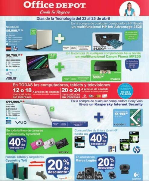 Días de Tecnología Office Depot 23 a 25 de abril