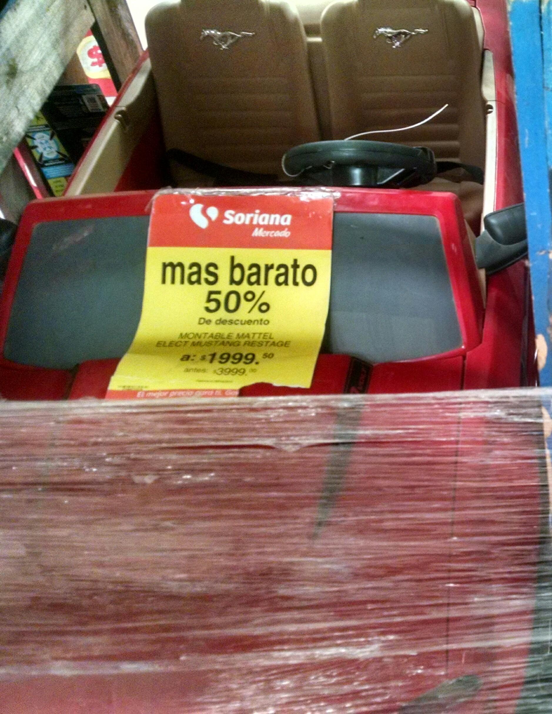 Soriana: Montable Mustang de Mattel a $1,999.50