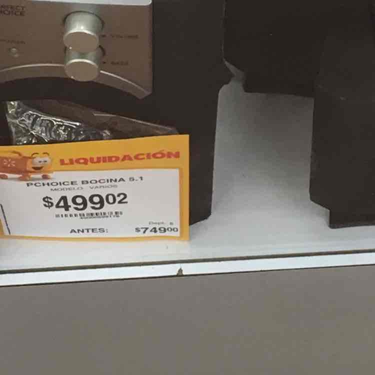 Walmart Miramontes y Acoxpa: bocinas  Perfect Choice a $499.02 y más