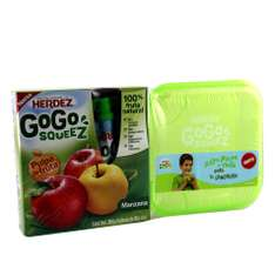 4 Gogo Squeez + SANDWICHERA De $32 a solo $3.50