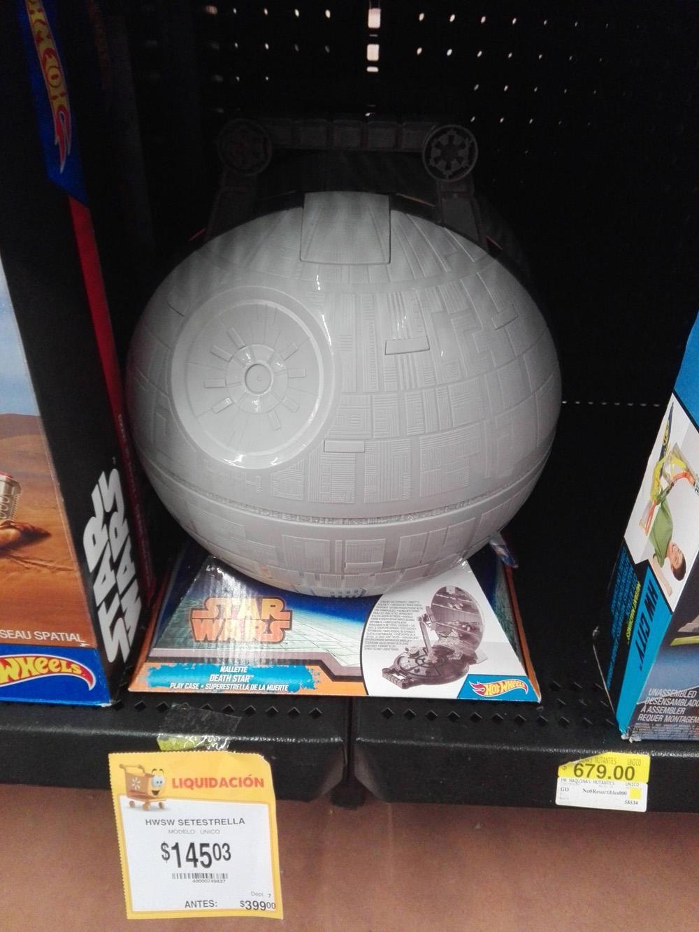 Walmart: estrella de la muerte Hotwheels a $149.03 (online a $225)