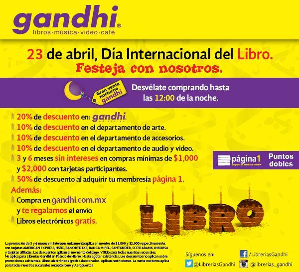 Venta Nocturna Librerías Gandhi abril 23