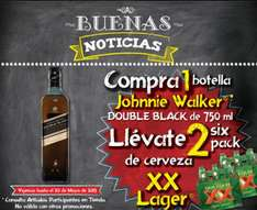 Superama: six de XX Lager comprando whisky Johnnie Walker y más