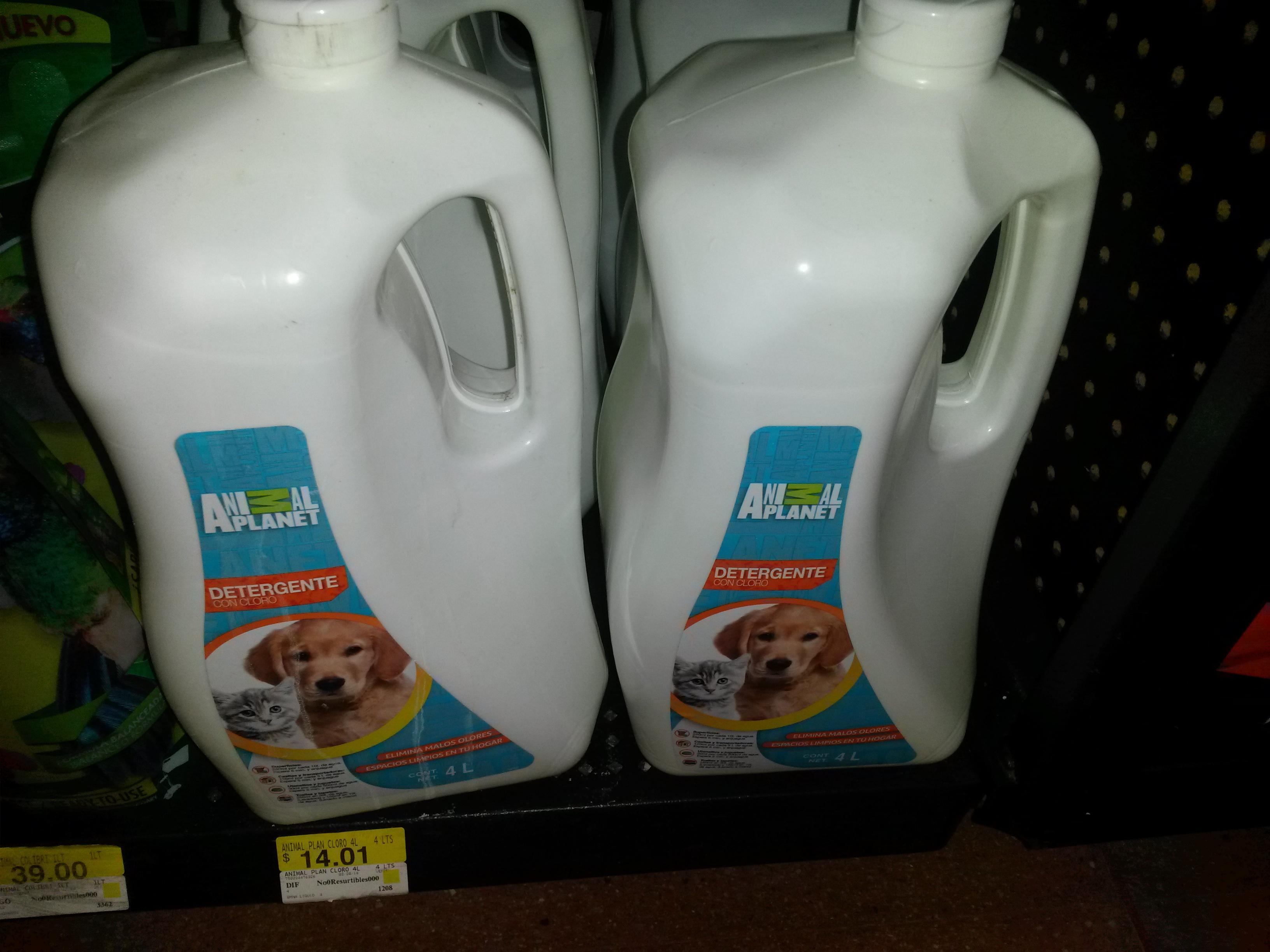 Walmart Universidad: detergente con cloro marca Animal Planet