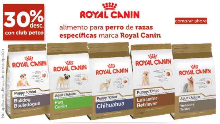 Petco: 30% de descuento en alimento para perro Royal Canin razas específicas
