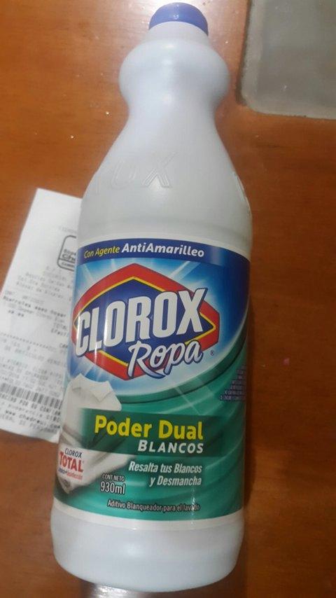 Chedraui: blanqueador clorox ropa poder dual de 930ml a $2.20