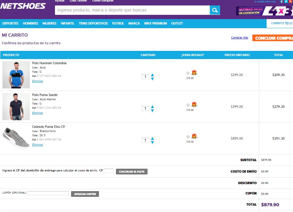 NetShoes: Playera Polo Hummer,  Puma Suede y Tennis Puma con descuento