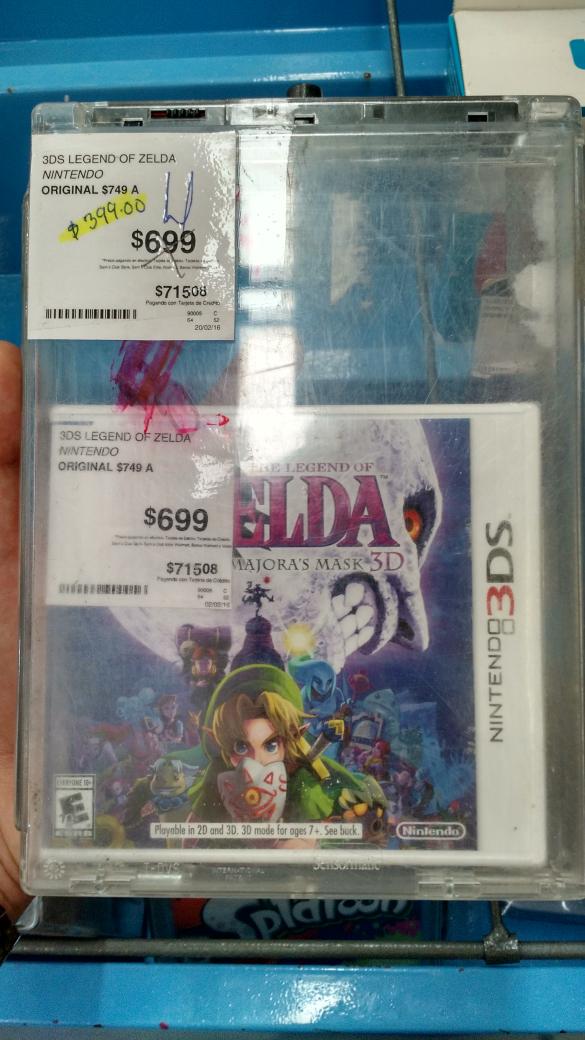 Sam's Club: Zelda Majora's Mask 3D a $399