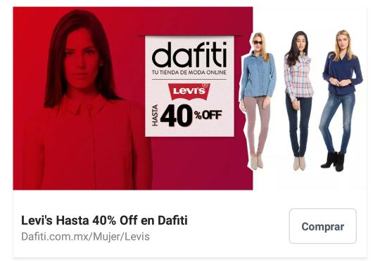 Dafiti: Hasta 40% de descuento en Ropa y calzado Levi's