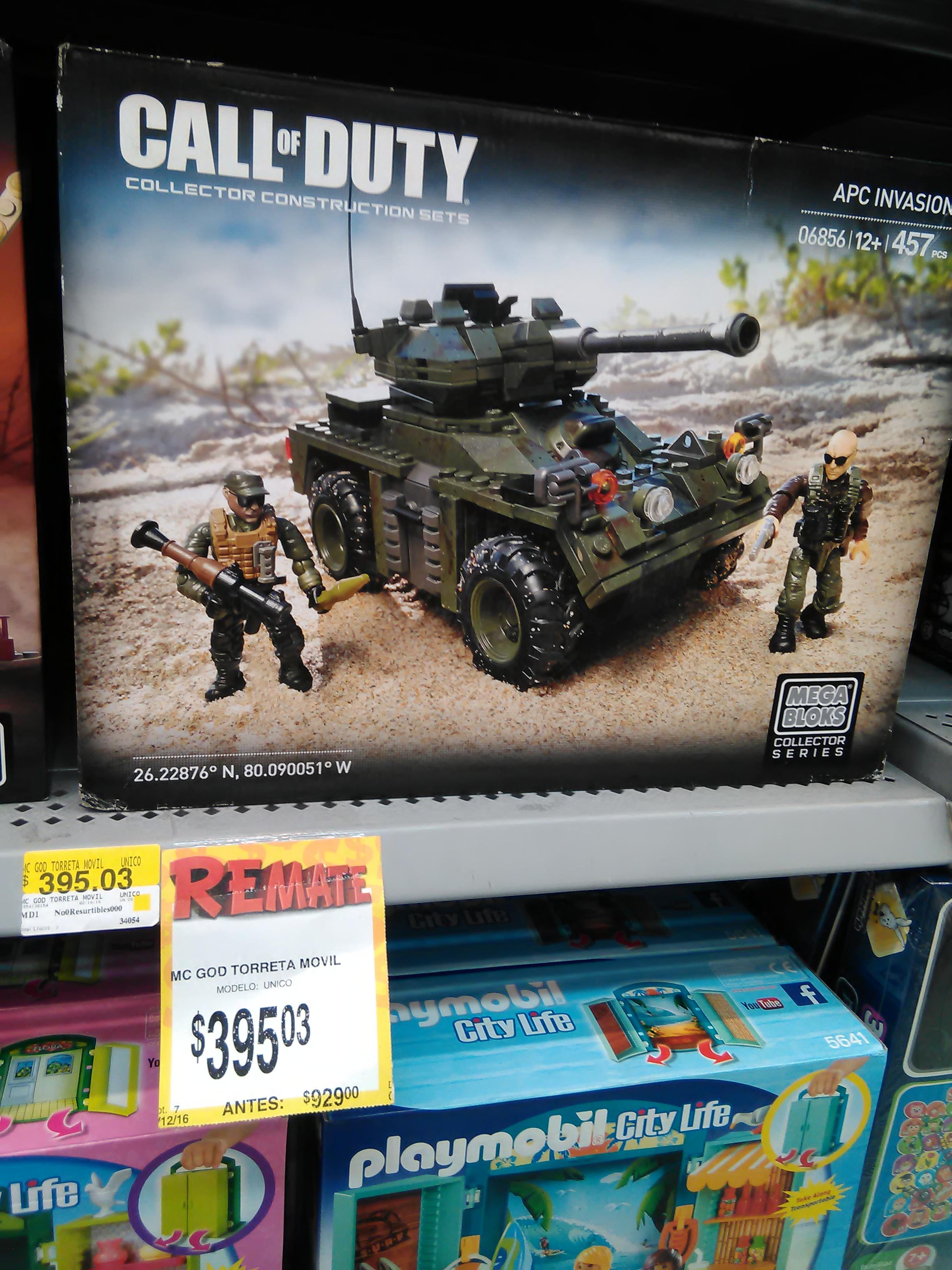 Bodega Aurrerá 1o de Mayo Naucalpan: Mega Blocks Call of Duty (Torreta movil) de $929 a $395