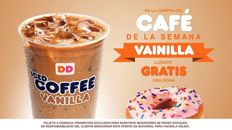 Dunkin Donuts: dona gratis comprando café de vainilla
