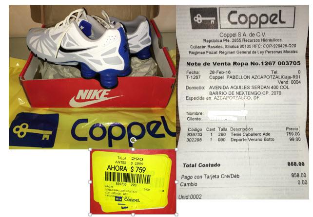 Coppel: tenis Nike Shox a $759