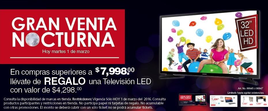 Office Max: Venta Nocturna TV gratis en compras superiores a $7998