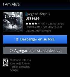 Playstation Network: I Am Alive Gratis para Playstation 3