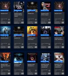 Playstation Store: Resident Evil Games Sale
