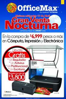 Venta Nocturna OfficeMax abril 17