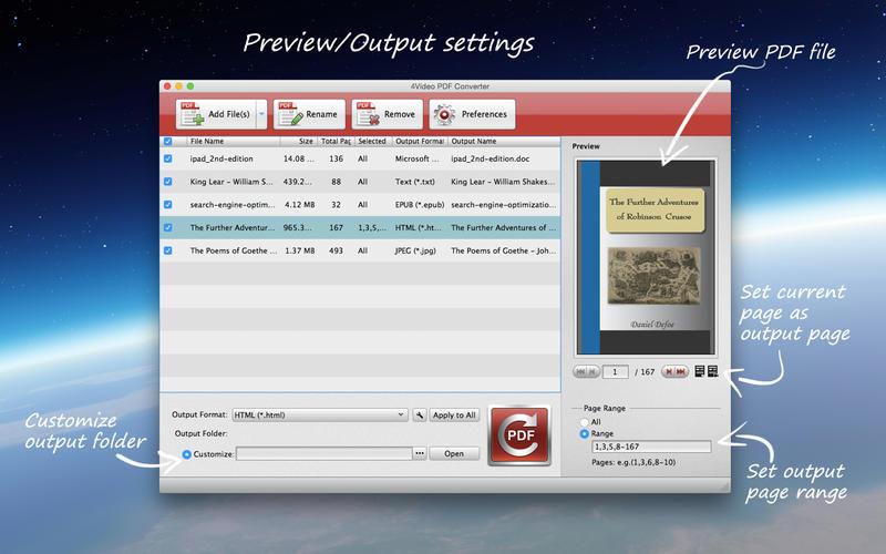 4video PDF Converter Gratis tiempo limitado. Precio real 25 dólares. MACSTORE