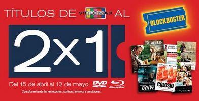 Blockbuster: 2x1 en titulos de Videomax