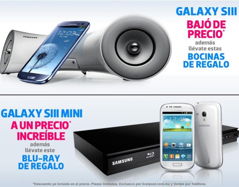 Bocinas o reproductor blu-ray gratis comprando Galaxy SIII o SIII Mini