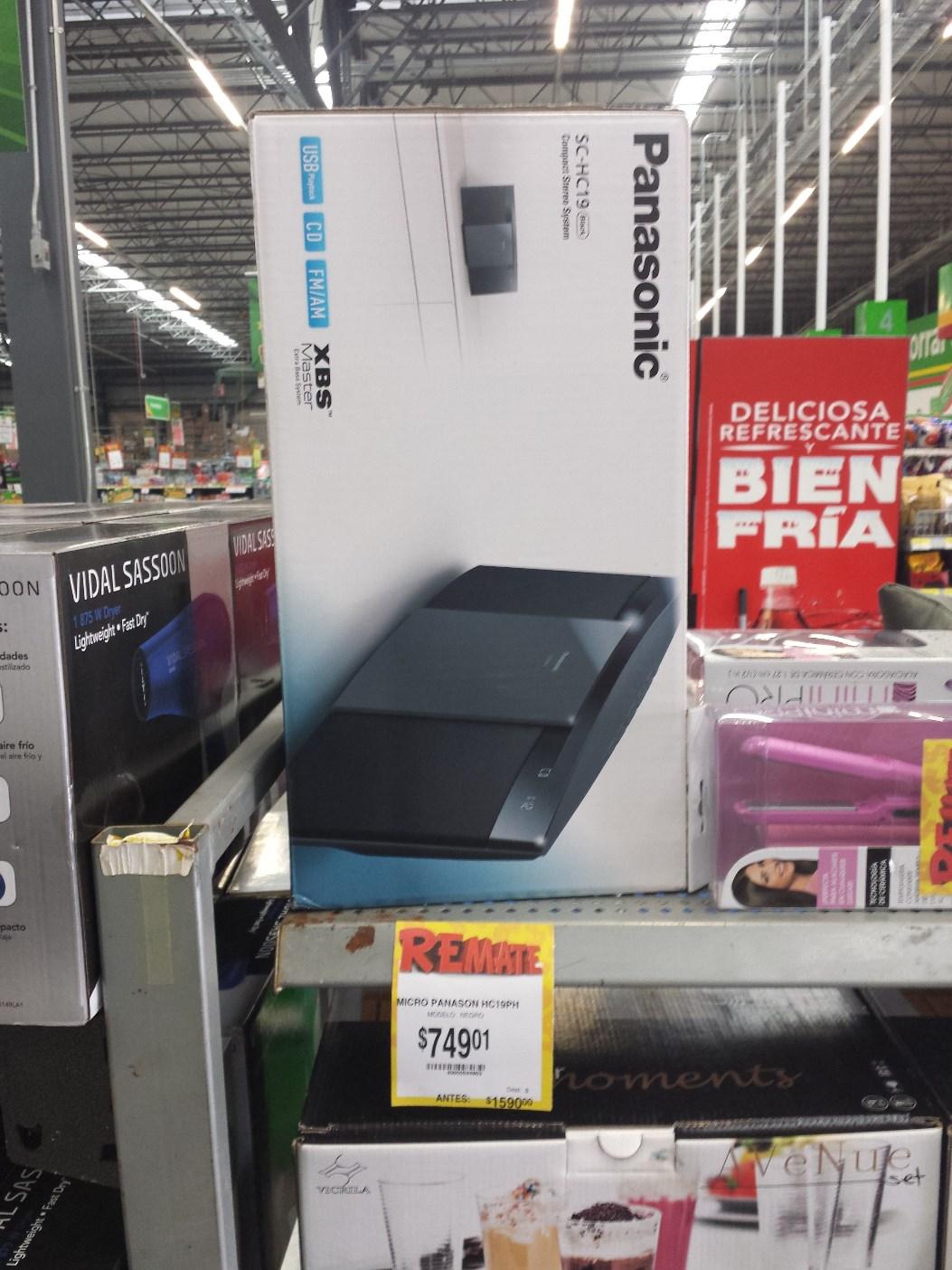 Bodega Aurrerá: Micro componente Panasonic SC-HC19 de $1590 a $749