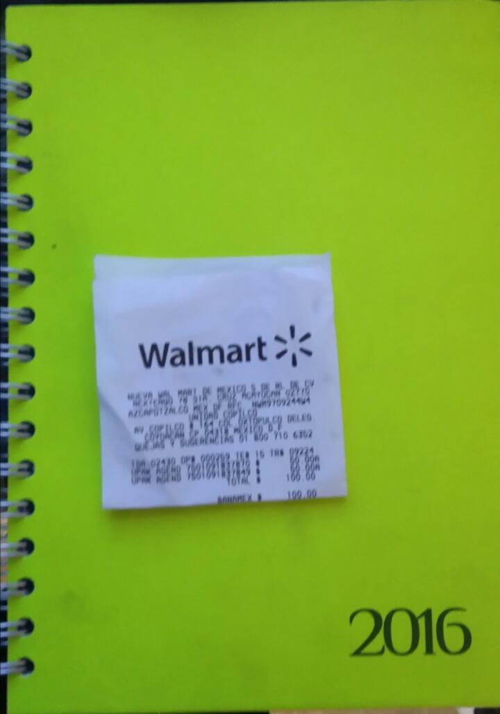 Walmart Copilco: agendas en liquidación a $50