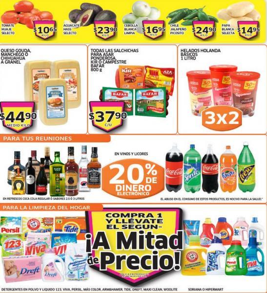Soriana Híper: ofertas en vinos, licores, refrescos, TVs Samsung, helado y más