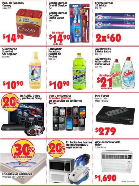 Mercado Soriana: 20% de descuento en marca Sony, Pepsi, microondas y más
