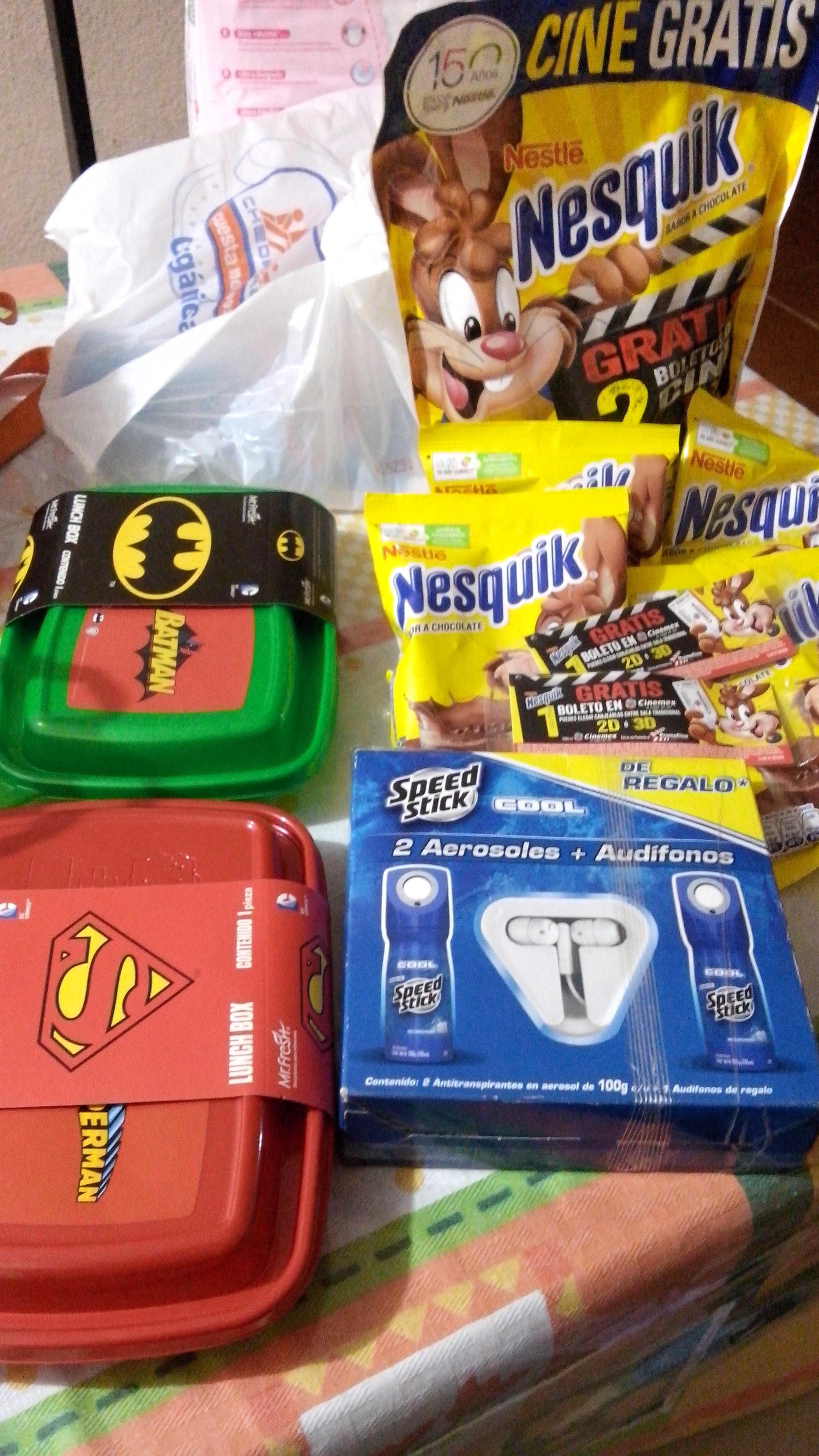Chedraui Cd. Labor: 2 desodorantes en aerosol Speed Stick + audífonos a $4.05, 2 boletos p/cine en 3d o 2d+4 bolsas de Nesquick $19 y más