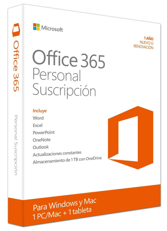 Amazon: Microsoft Office 365 Personal + Envío Gratis (suscripción por un año)